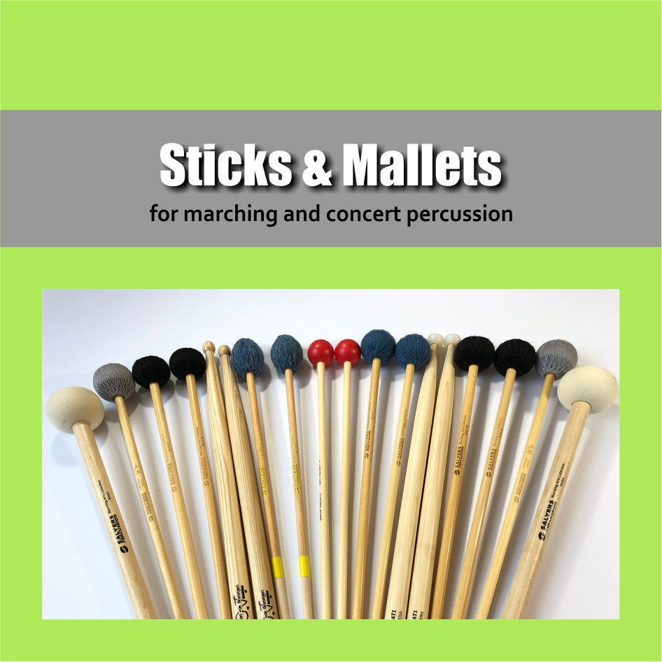 Sticks & Mallets | Sticks and mallets for marching percussion and concert percussion | Show & Marching Music