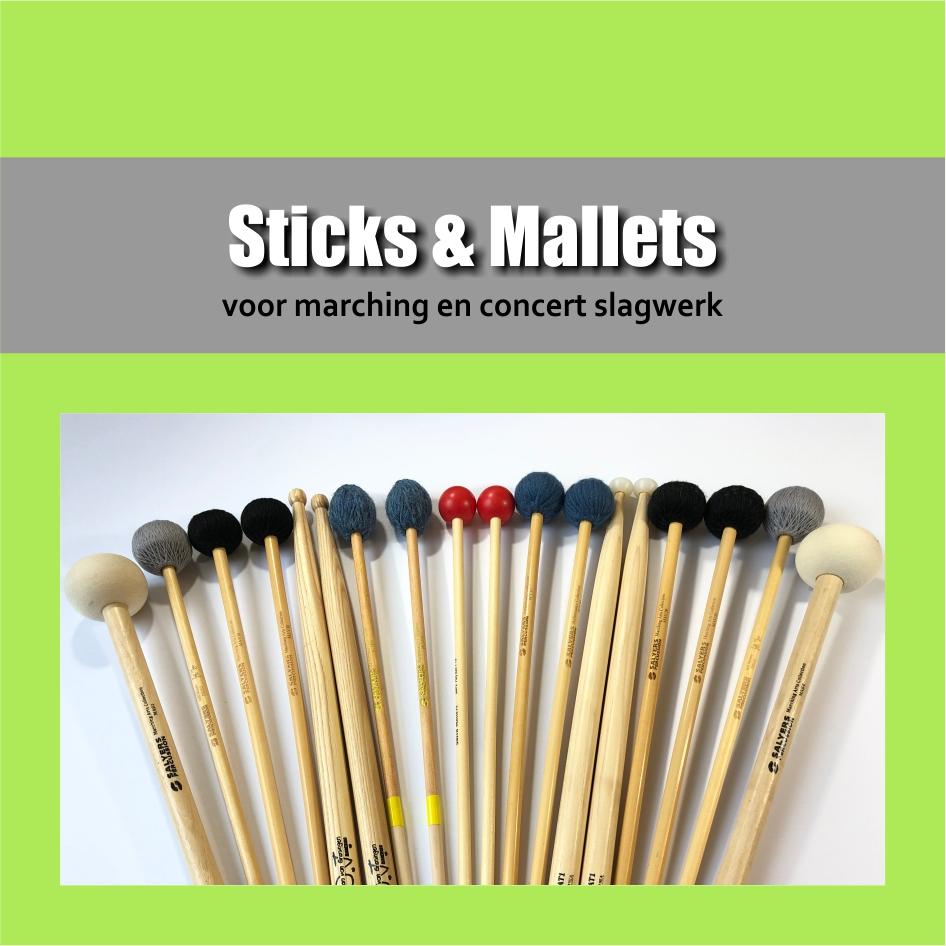 Sticks & Mallets | Stokken en mallets voor mars en concert slagwerk | Show & Marching Music