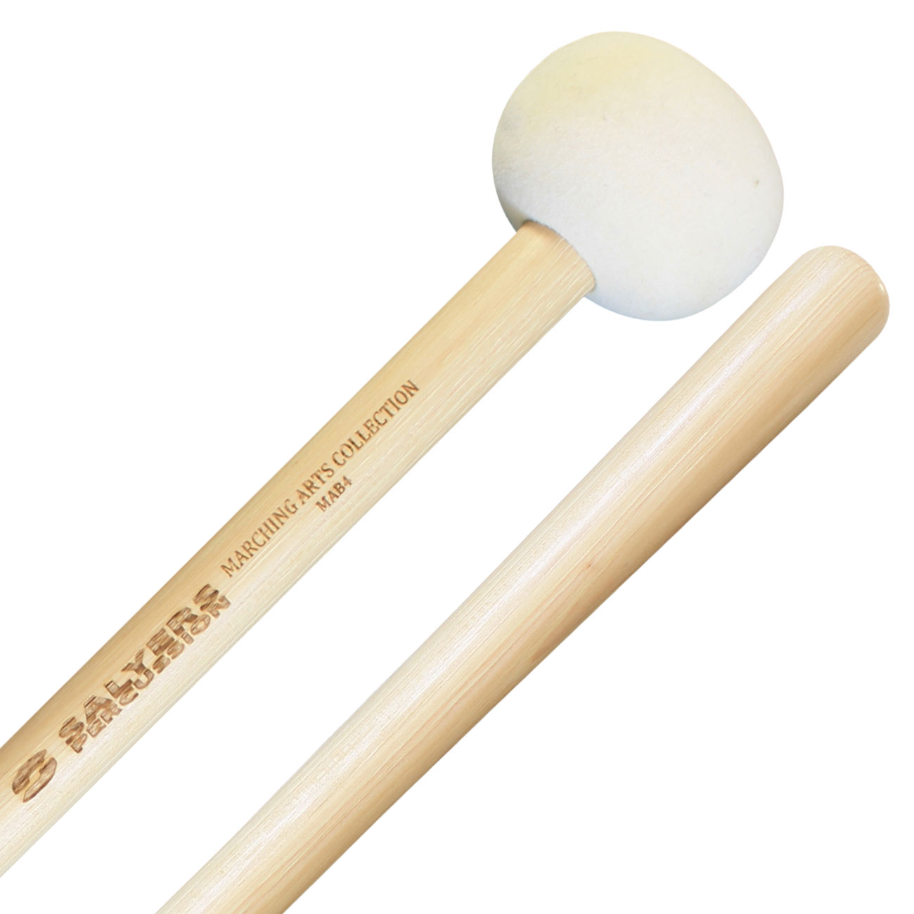 Marching bass drum mallets (L)