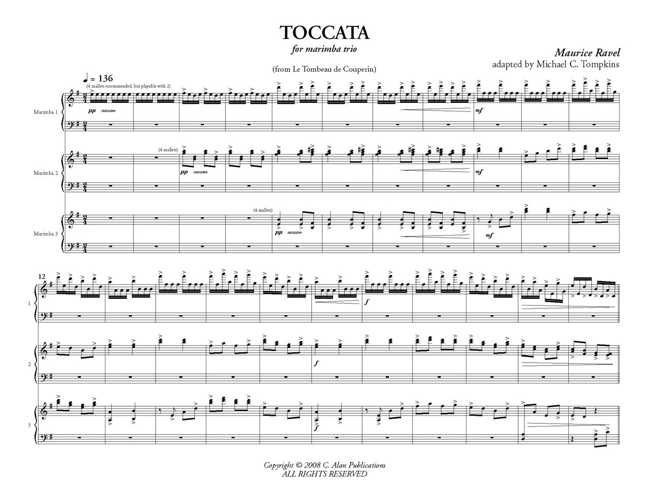 "Toccata From ""Le Tombeau De Couperin"" (Ravel)"