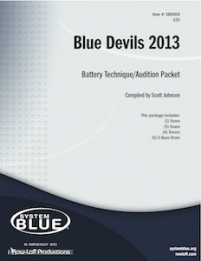 Blue Devils Battery Audition Pak - 5 Bass Drums